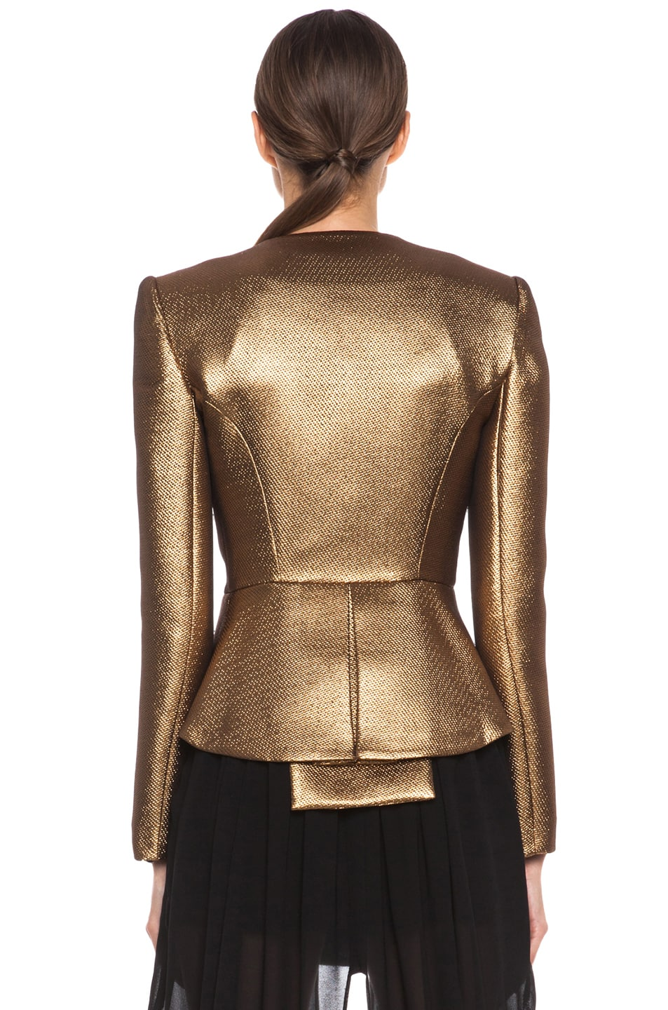 Image 5 of Sass & Bide The Art Scene Poly-Blend Jacket in Gold
