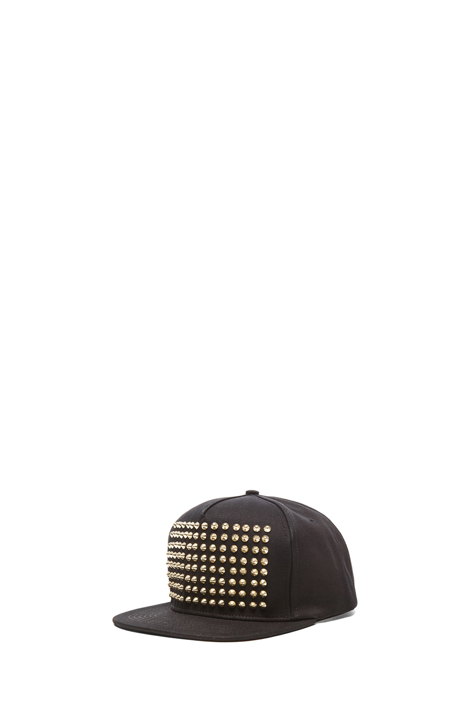 Image 2 of Stampd Studded Hat in Black & Gold