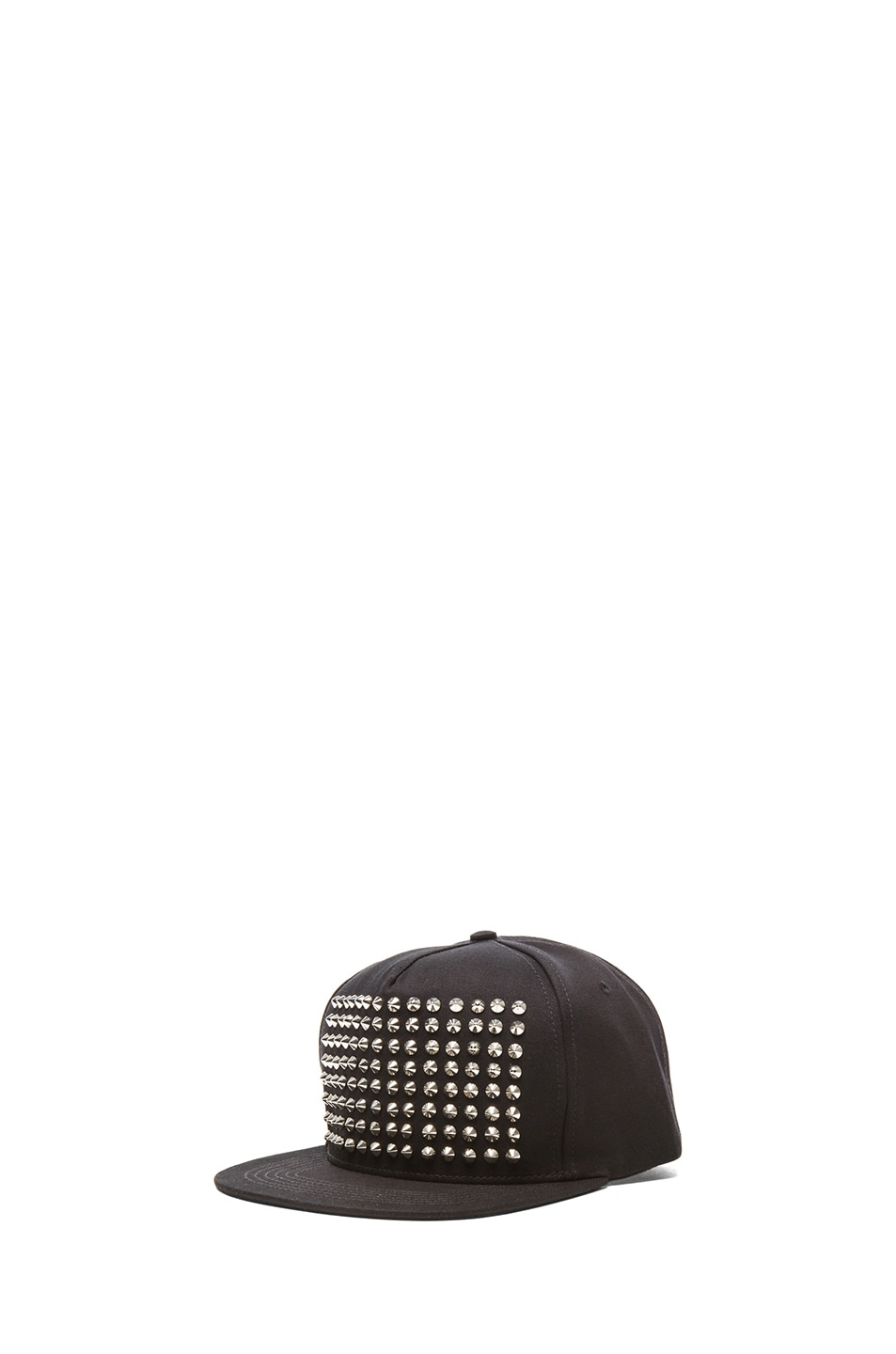Image 2 of Stampd Studded Hat in Silver & Black