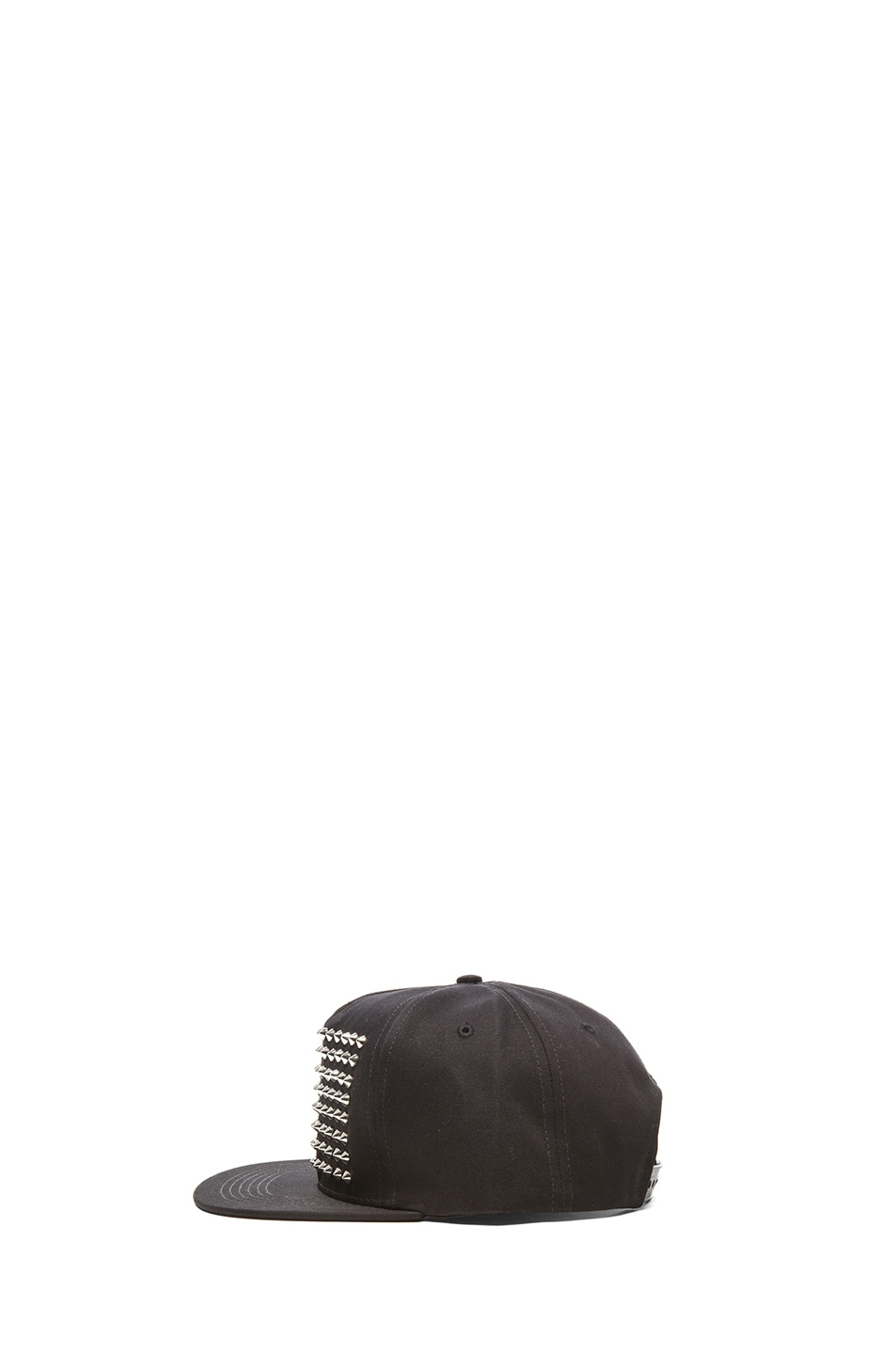 Image 3 of Stampd Studded Hat in Silver & Black