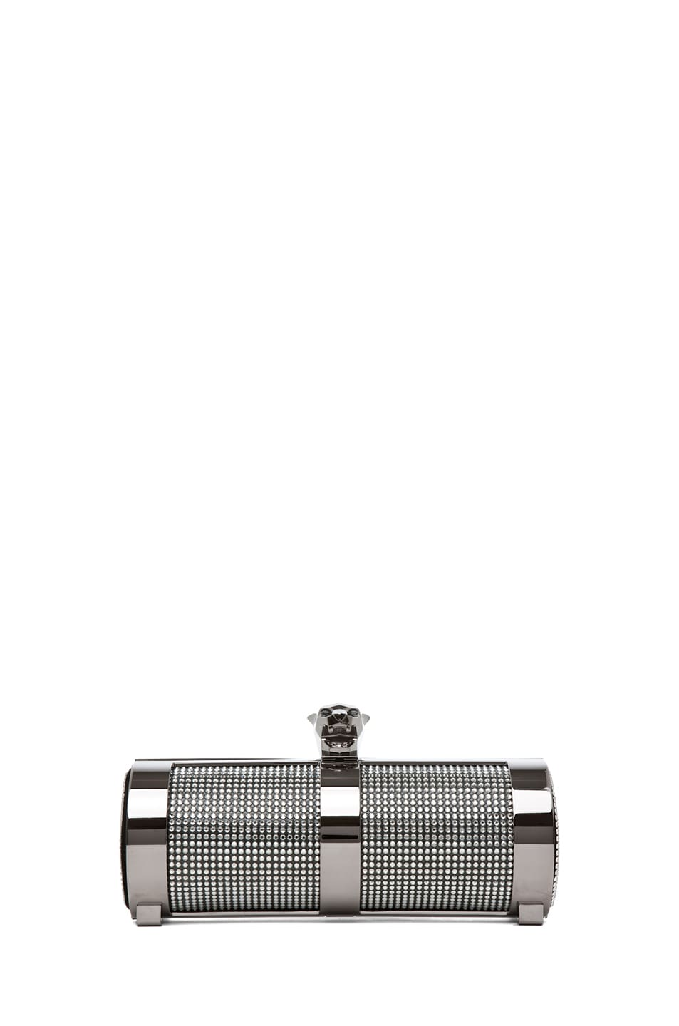 Image 1 of Stark Fierce Crystal Shadow Clutch in Silver