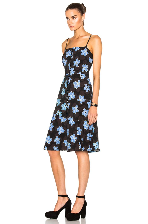 Image 2 of SUNO Flare Hem Tank Dress in Floral Blue