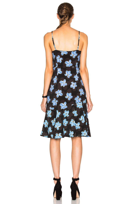 Image 4 of SUNO Flare Hem Tank Dress in Floral Blue