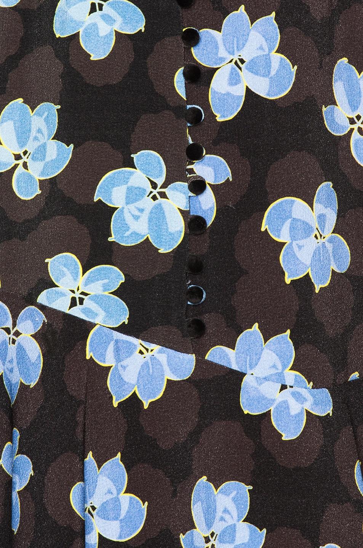 Image 5 of SUNO Flare Hem Tank Dress in Floral Blue