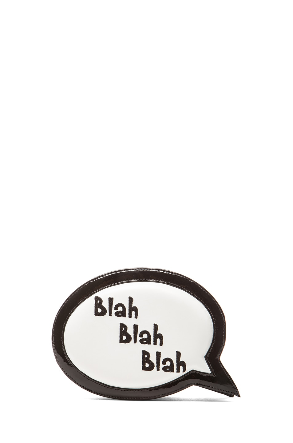 Image 1 of Sophia Webster Speech Bubble Blah Blah Blah Bag in Black & White
