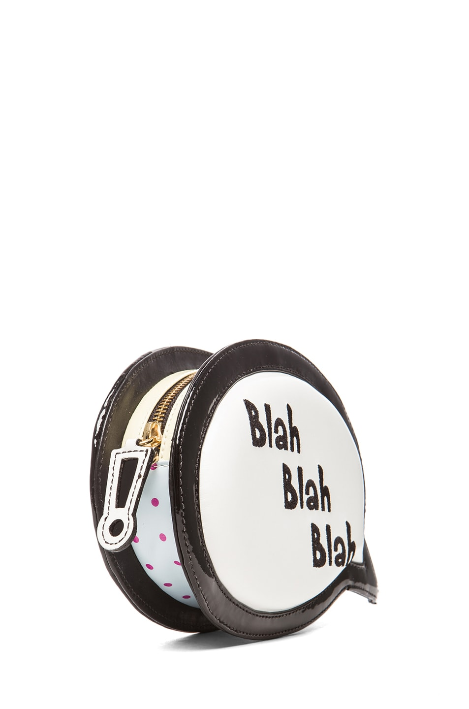Image 3 of Sophia Webster Speech Bubble Blah Blah Blah Bag in Black & White