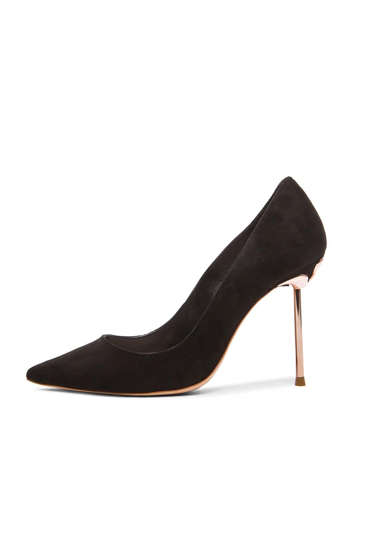 Image 5 of Sophia Webster Coco Flamingo Suede Heels in Black Suede