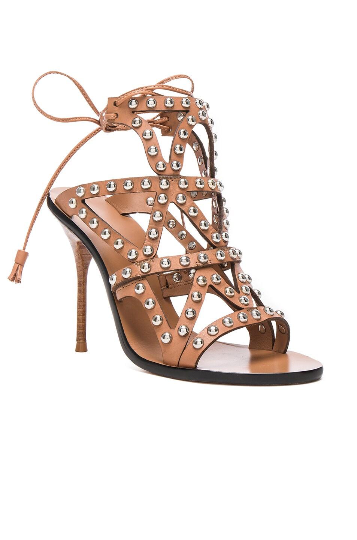 Image 2 of Sophia Webster Leather Mila Heels in Tan
