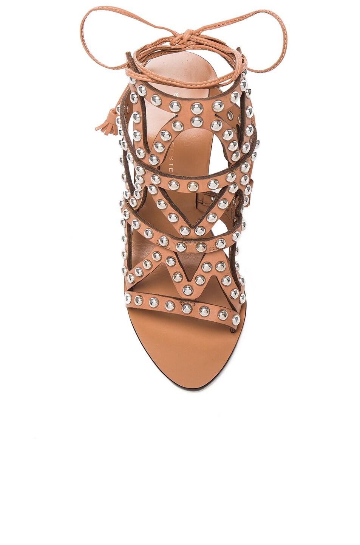 Image 4 of Sophia Webster Leather Mila Heels in Tan