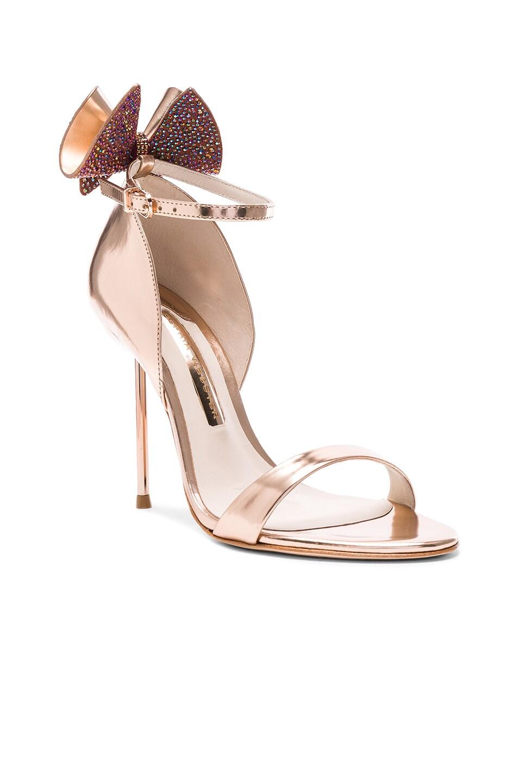 Image 2 of Sophia Webster Leather Maya Heels in Rose Gold
