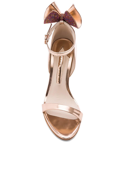 Image 4 of Sophia Webster Leather Maya Heels in Rose Gold
