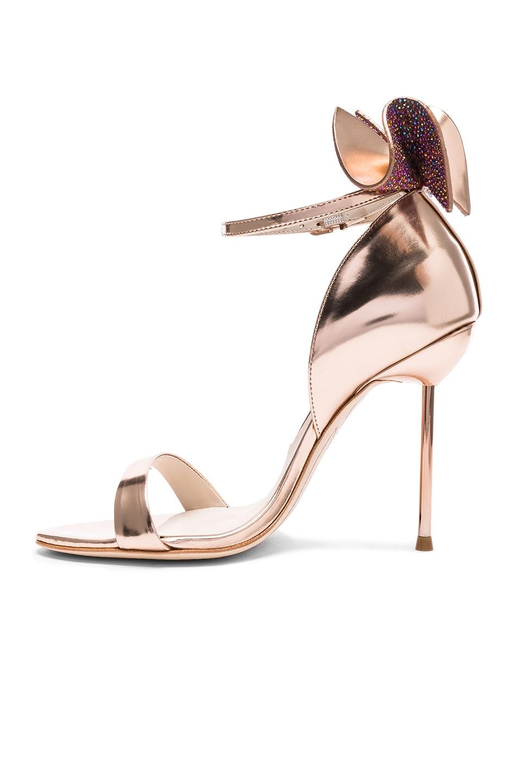 Image 5 of Sophia Webster Leather Maya Heels in Rose Gold