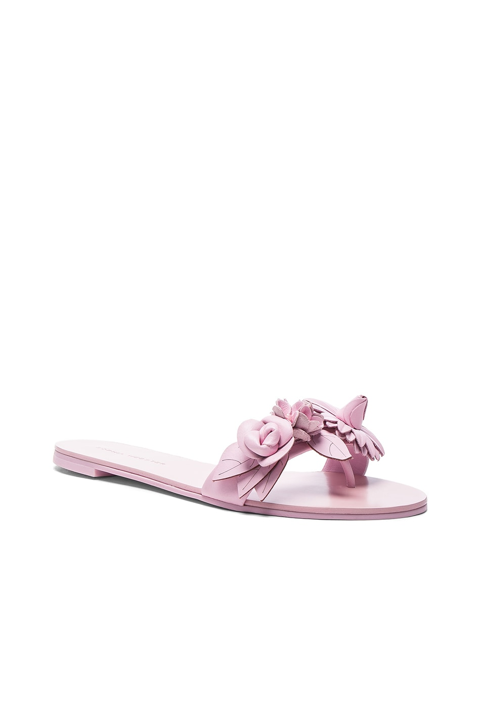 Image 2 of Sophia Webster Leather Lilico Sandals in Pink