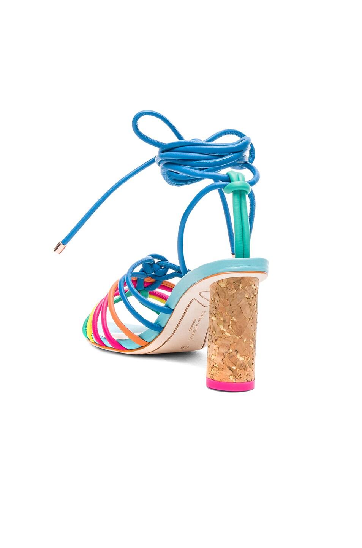Image 3 of Sophia Webster Leather Copacabana Mid Sandals in Blue