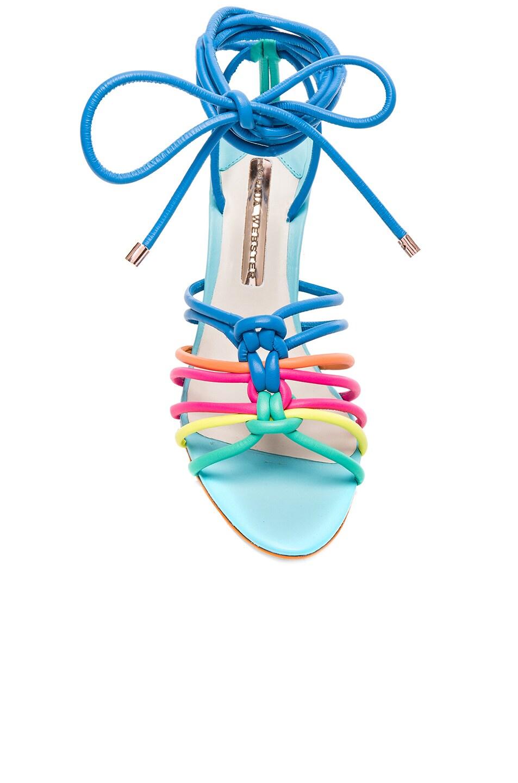 Image 4 of Sophia Webster Leather Copacabana Mid Sandals in Blue