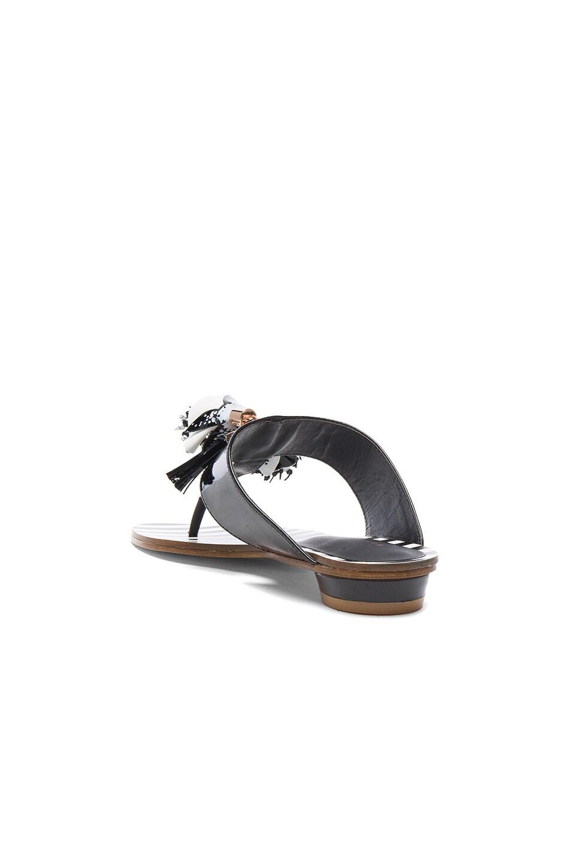 Image 3 of Sophia Webster Patent Leather Saffi Slide in Black & White