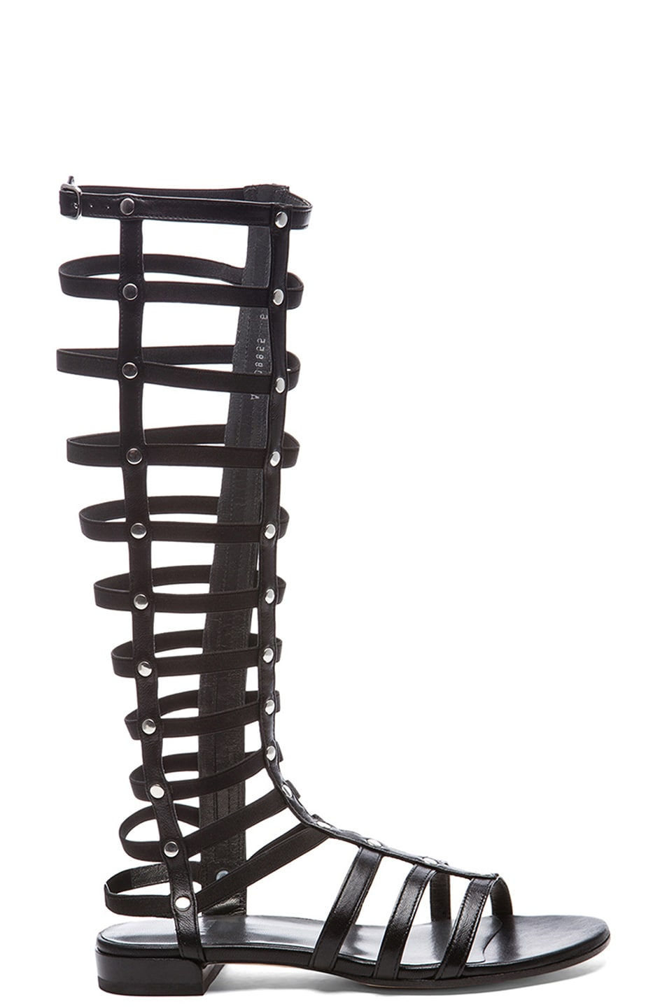 Image 1 of Stuart Weitzman Nappa Leather Gladiator Sandals in Black