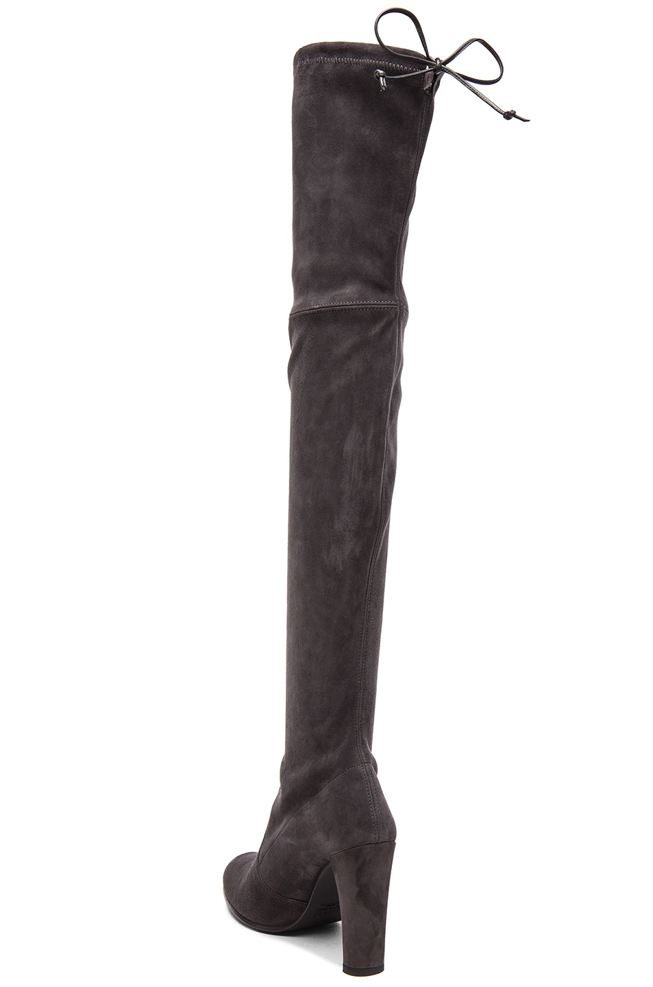 Image 3 of Stuart Weitzman Highland Suede Boots in Grey Suede