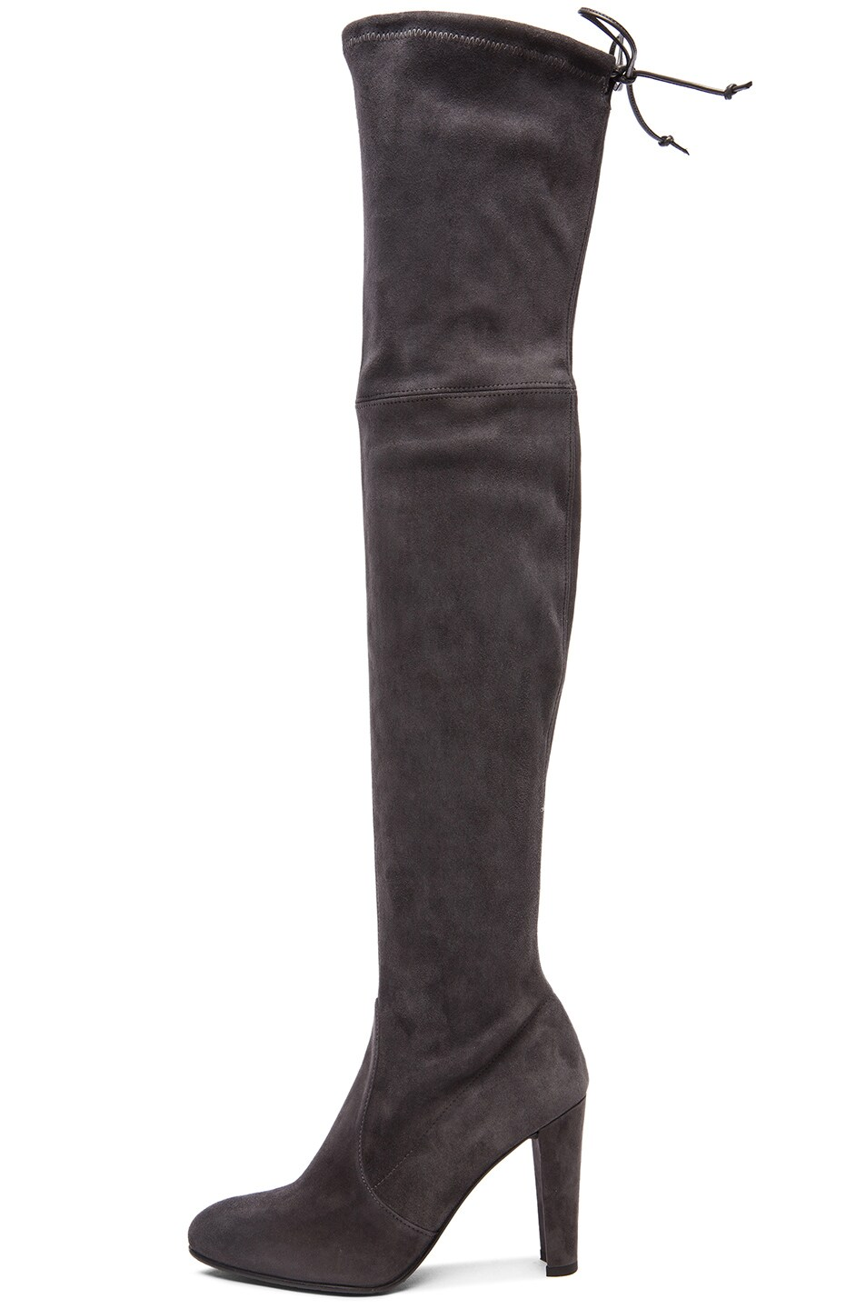 Image 5 of Stuart Weitzman Highland Suede Boots in Grey Suede