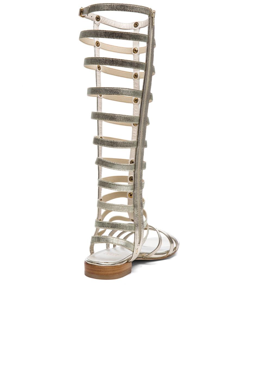 Image 3 of Stuart Weitzman Metallic Nappa Leather Gladiator Sandals in Cava
