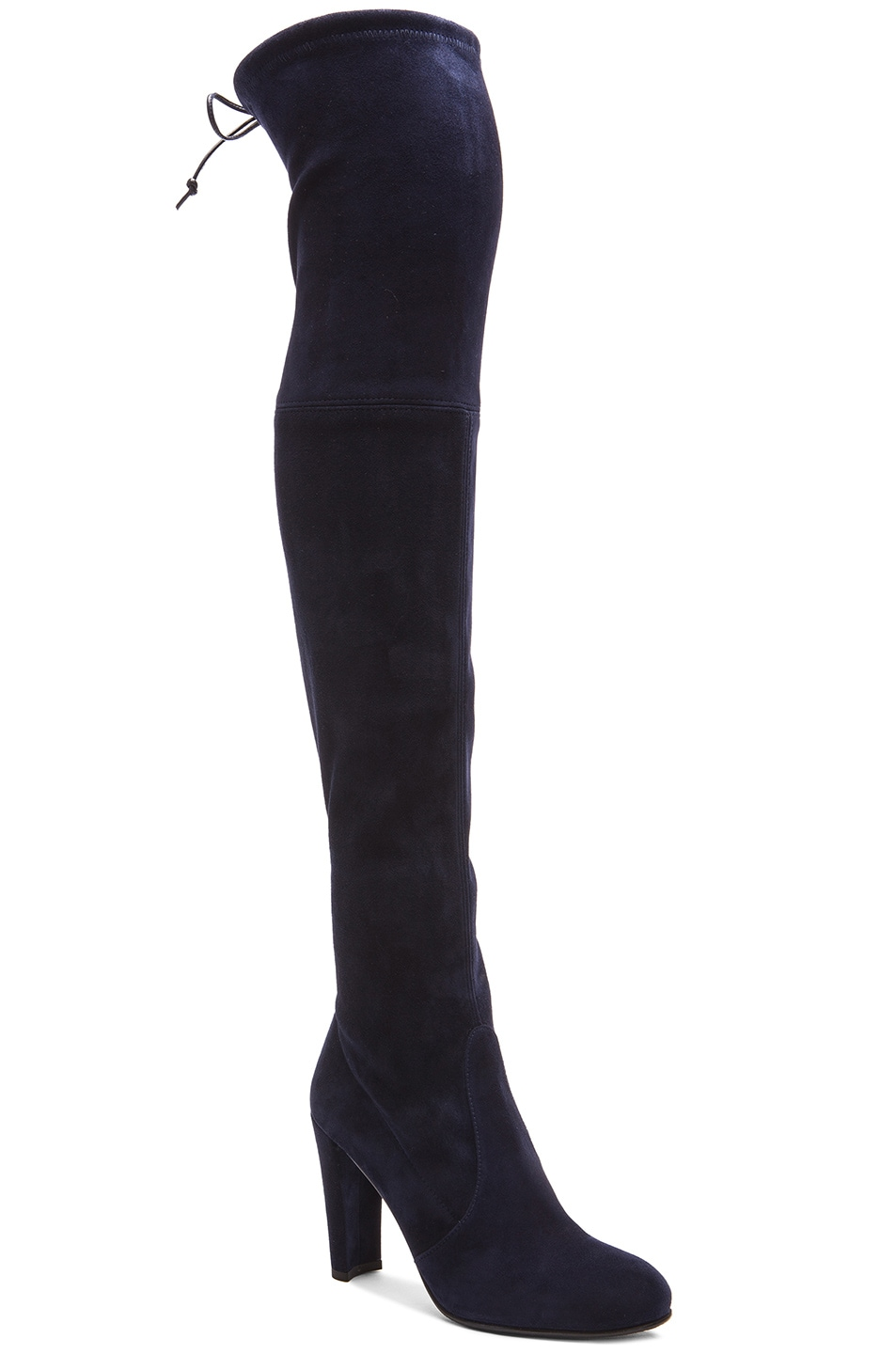 Image 2 of Stuart Weitzman Highland Suede Boots in Nice Blue Suede