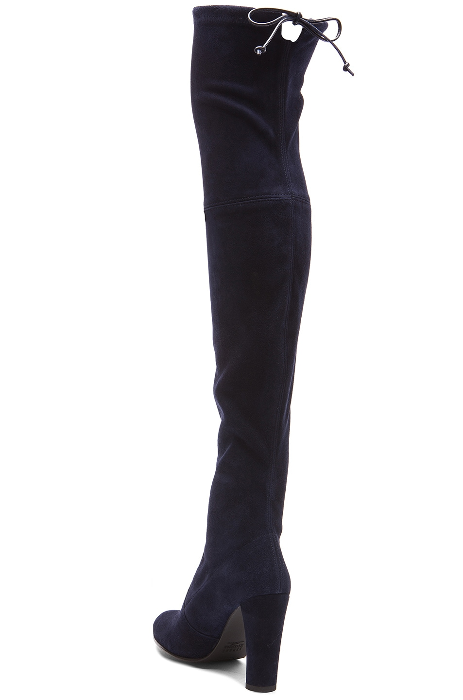Image 3 of Stuart Weitzman Highland Suede Boots in Nice Blue Suede