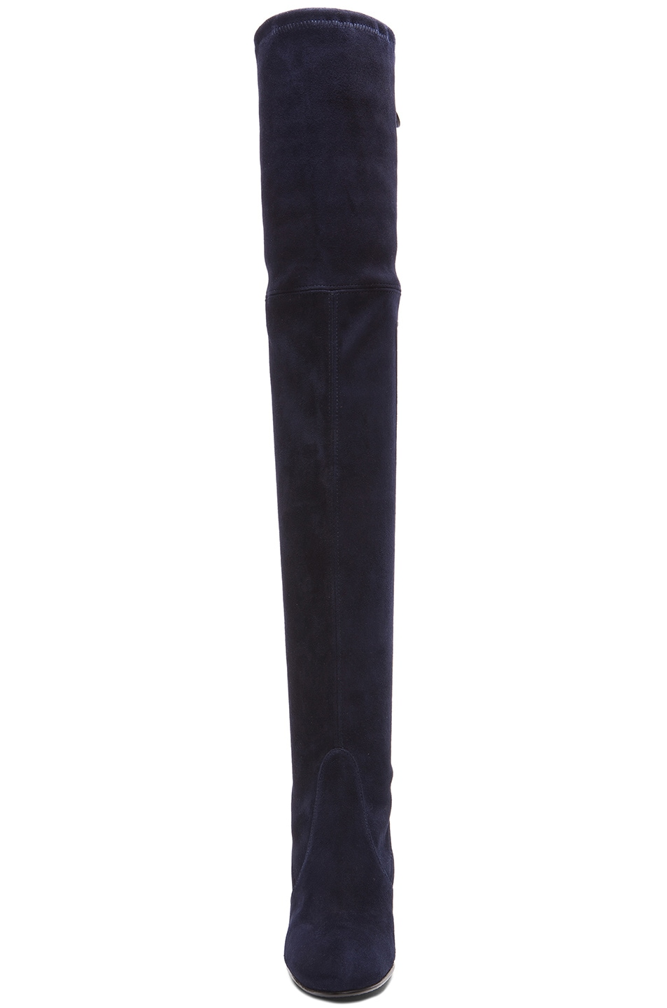 Image 4 of Stuart Weitzman Highland Suede Boots in Nice Blue Suede
