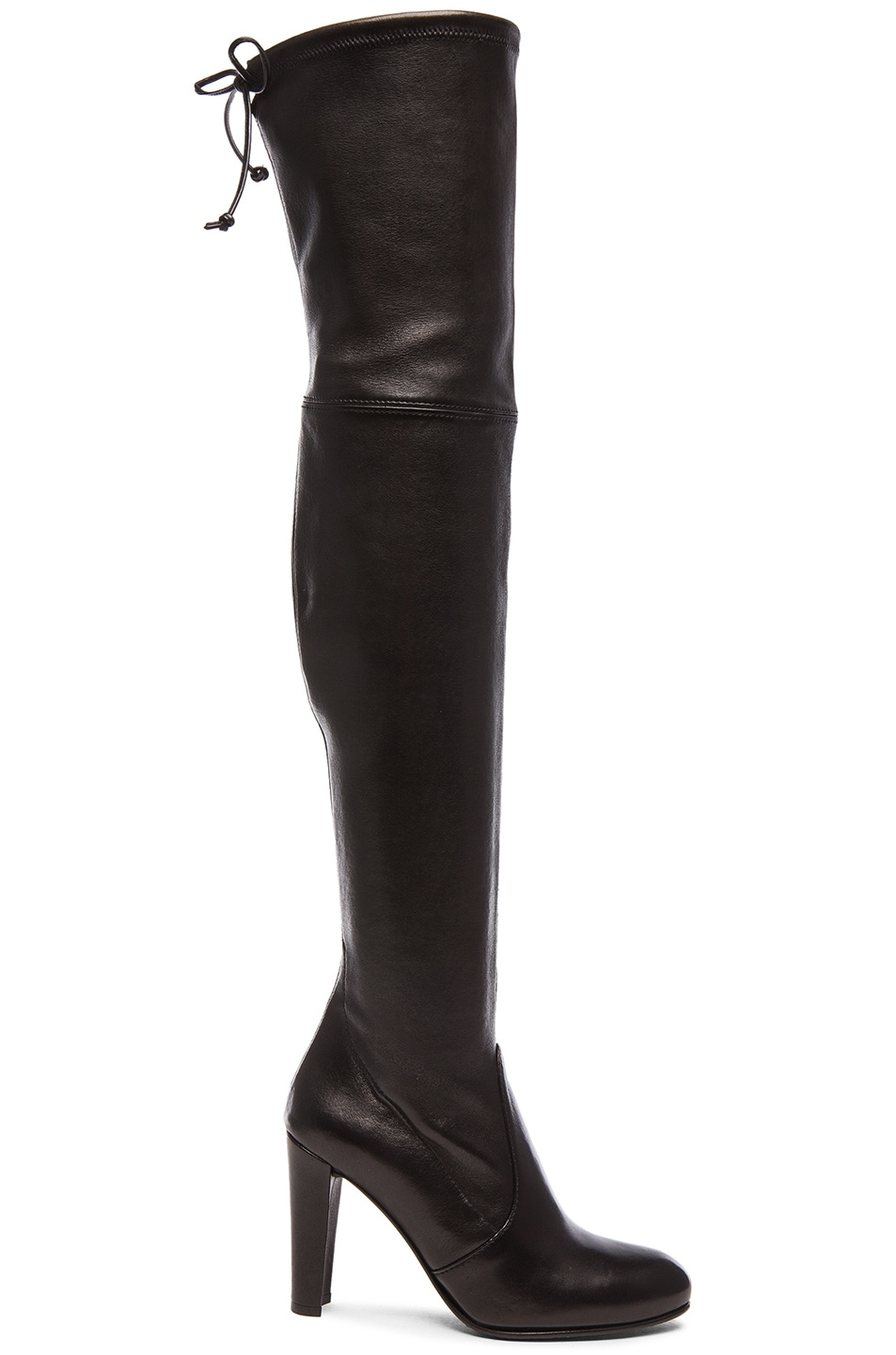 Image 1 of Stuart Weitzman Stretch Leather Highland Boots in Nero