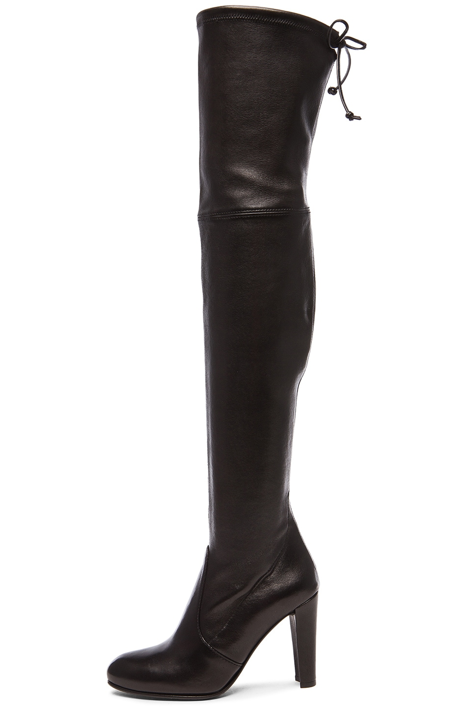 Image 5 of Stuart Weitzman Stretch Leather Highland Boots in Nero