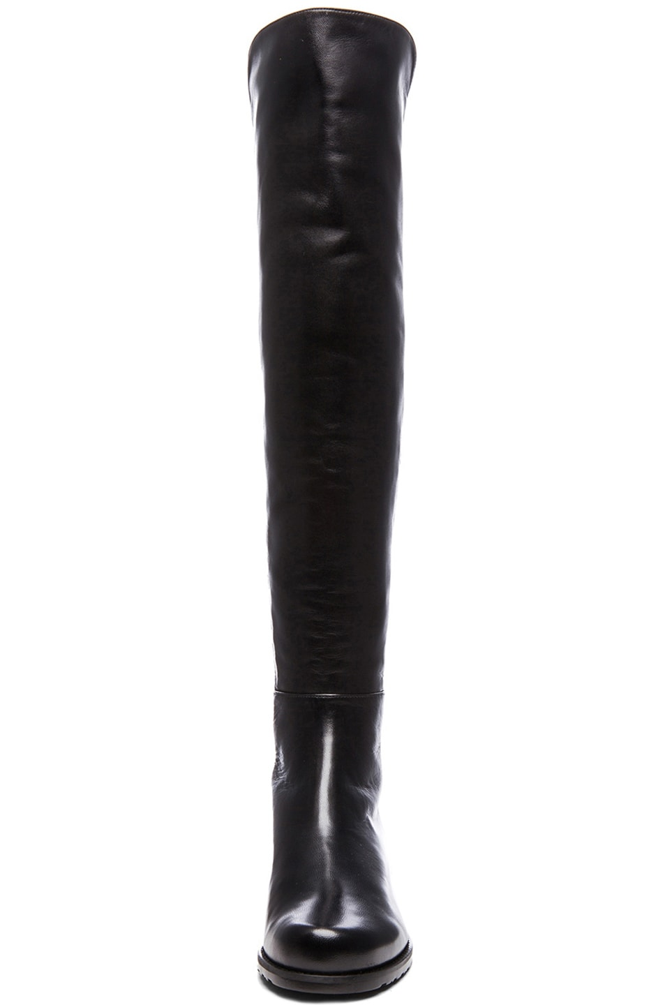 Image 4 of Stuart Weitzman 50/50 Leather & Neoprene Boots in Black