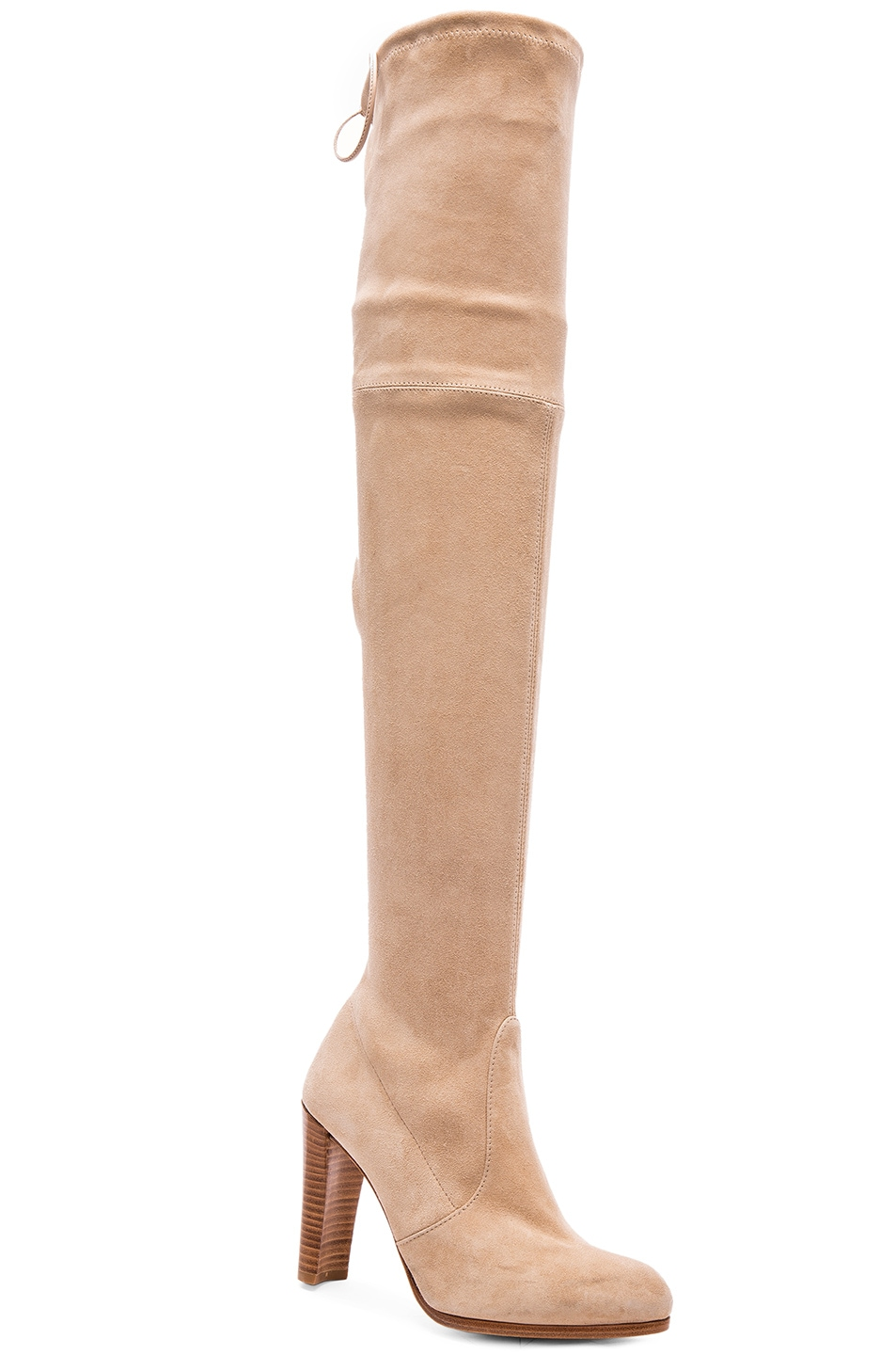 Image 2 of Stuart Weitzman Highland Suede Boots in Buff Suede
