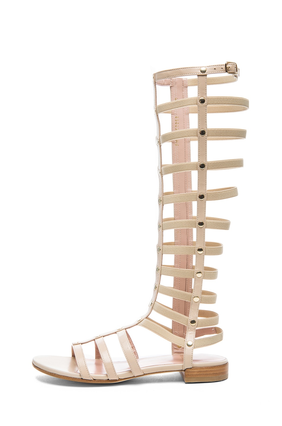 Image 1 of Stuart Weitzman Nappa Leather Gladiator Sandals in Pan