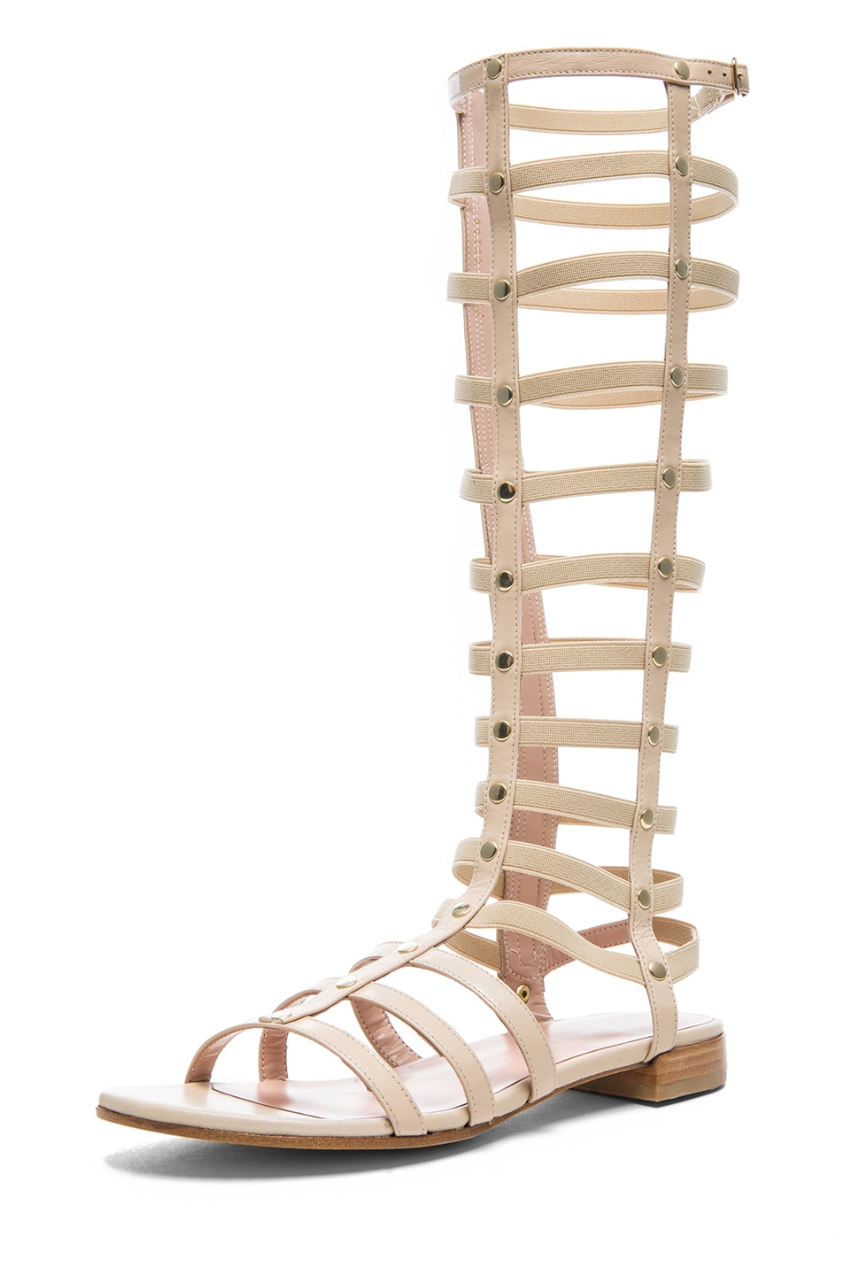 Image 2 of Stuart Weitzman Nappa Leather Gladiator Sandals in Pan