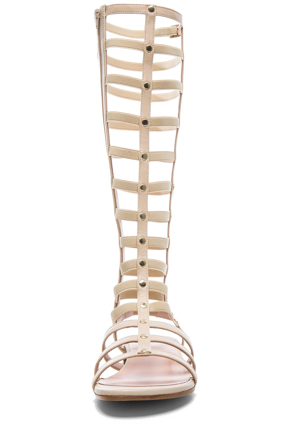 Image 4 of Stuart Weitzman Nappa Leather Gladiator Sandals in Pan