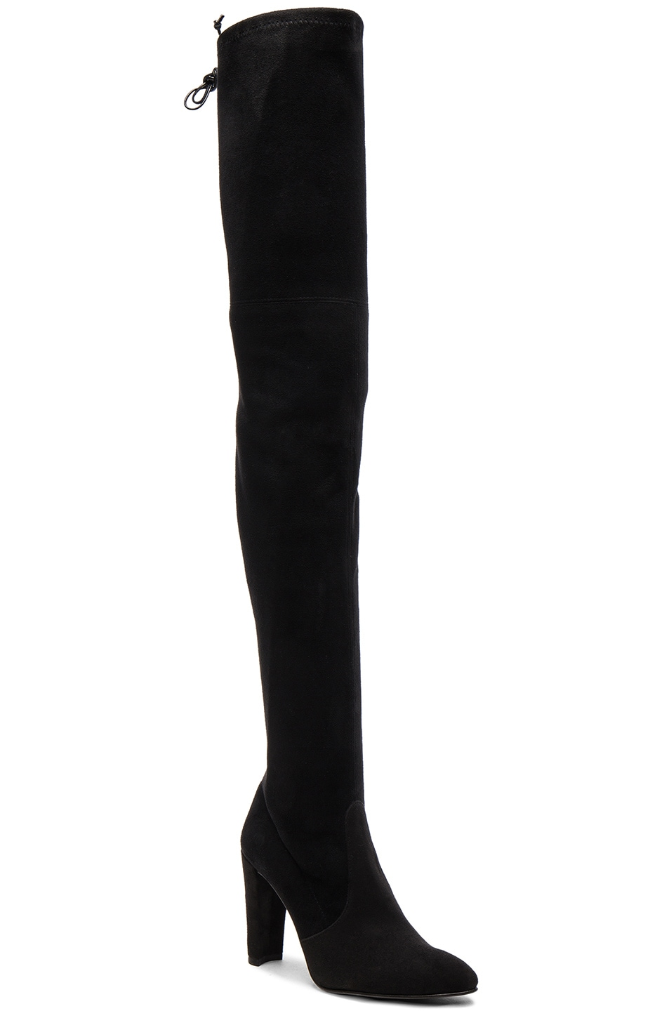 Image 2 of Stuart Weitzman Suede Alllegs Boots in Black