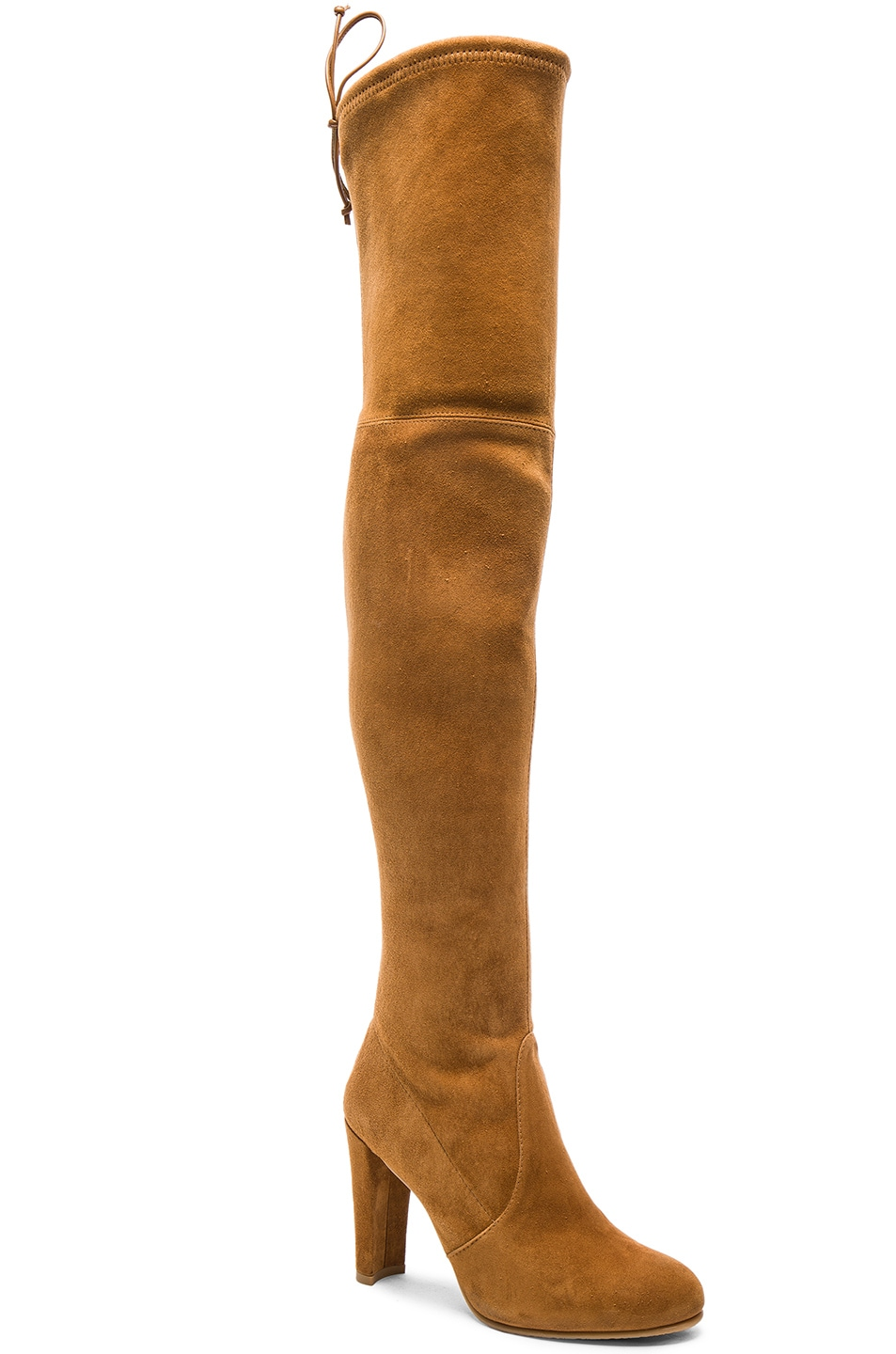 Image 2 of Stuart Weitzman Suede Highland Boots in Camel