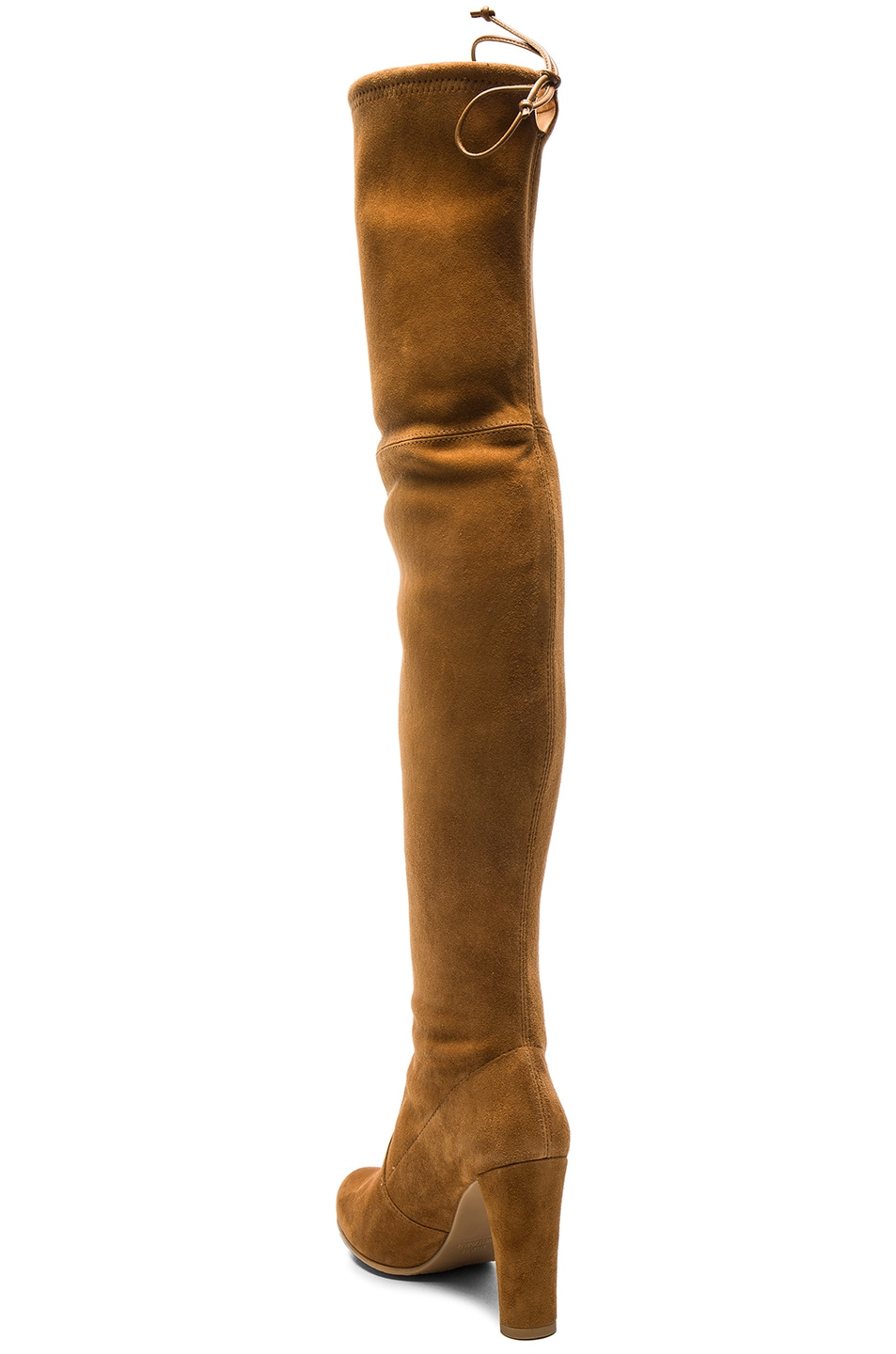Image 3 of Stuart Weitzman Suede Highland Boots in Camel