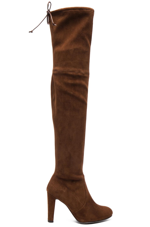 Image 1 of Stuart Weitzman Suede Highland Boots in Nutmeg
