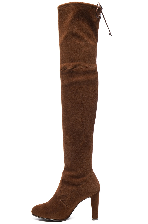 Image 5 of Stuart Weitzman Suede Highland Boots in Nutmeg