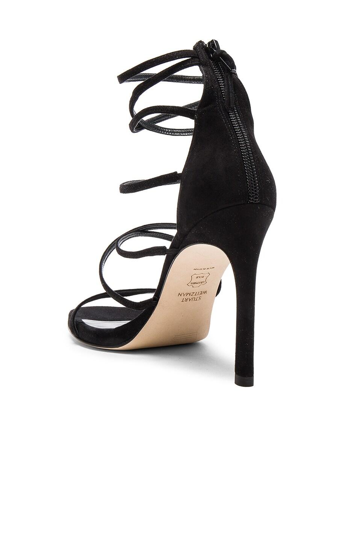 Image 3 of Stuart Weitzman Suede Myex Heels in Black
