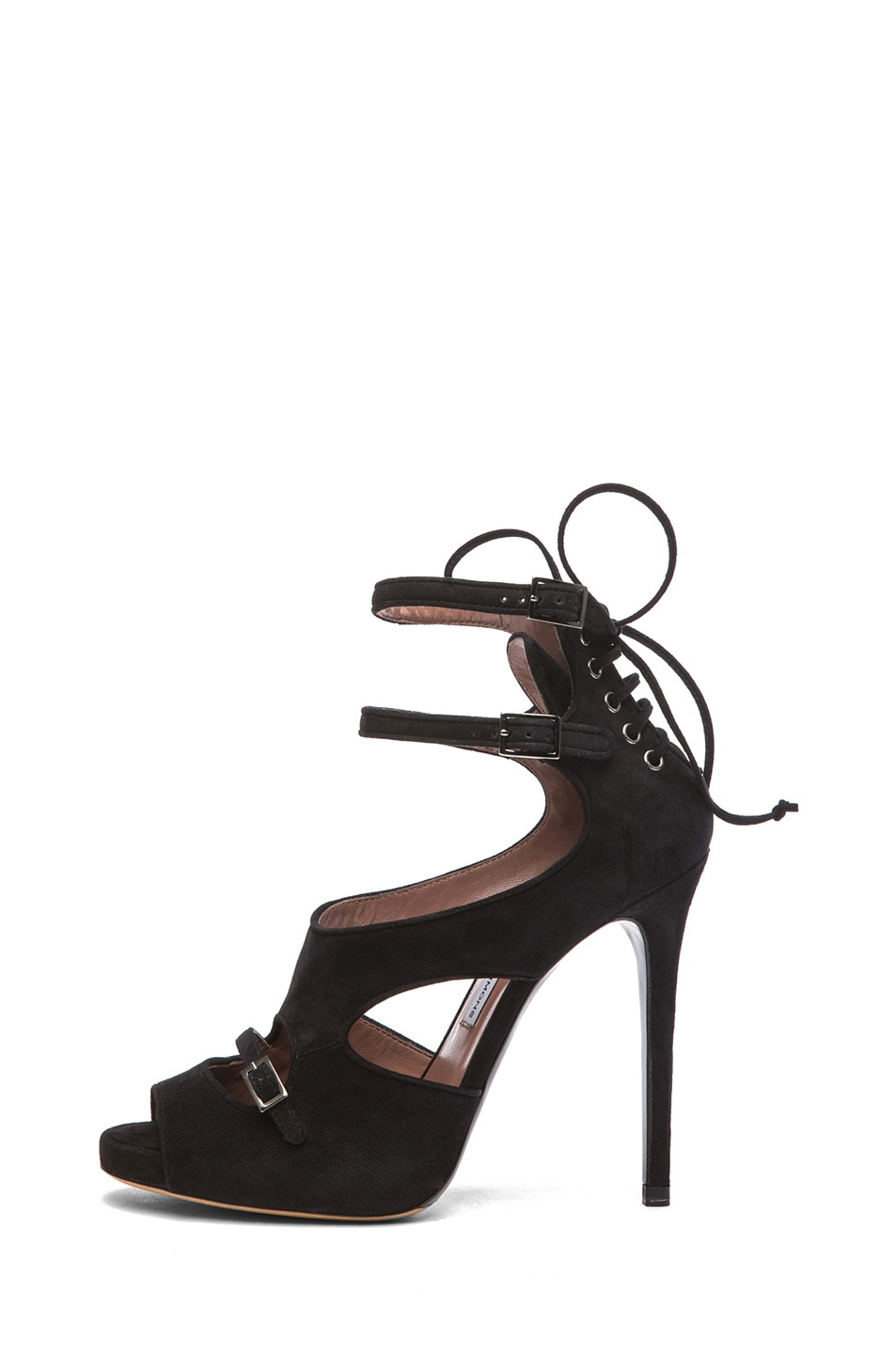 Image 1 of Tabitha Simmons Bailey Suede Heels in Black
