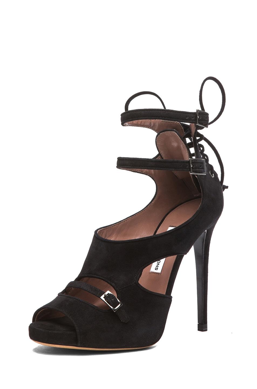 Image 2 of Tabitha Simmons Bailey Suede Heels in Black