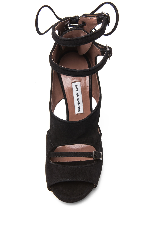 Image 4 of Tabitha Simmons Bailey Suede Heels in Black
