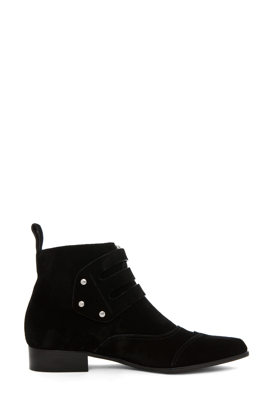 Image 5 of Tabitha Simmons Early Suede Bootie in Black