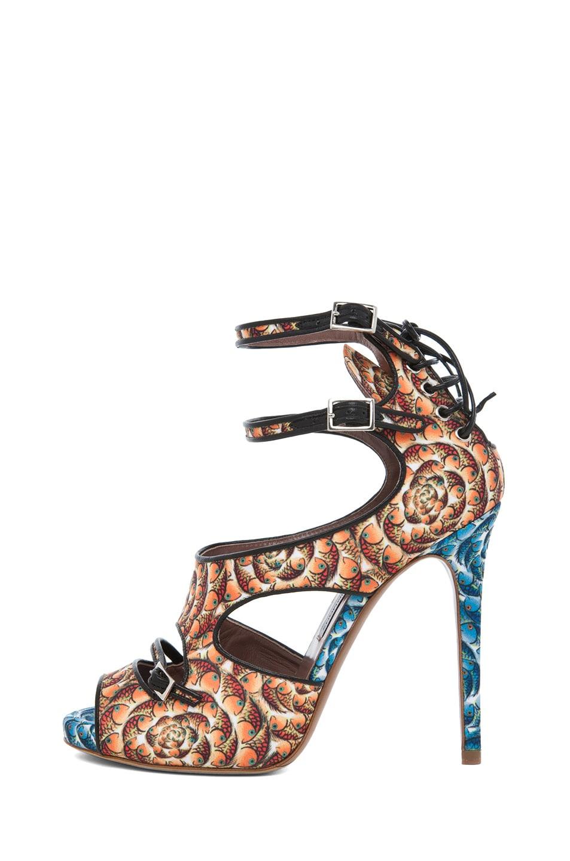 Image 1 of Tabitha Simmons Bailey Heel in Orange & Blue