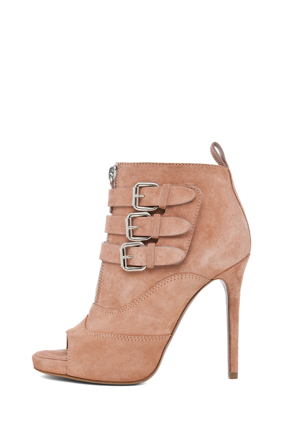 Image 1 of Tabitha Simmons Eva Suede Bootie in Rose Split Suede