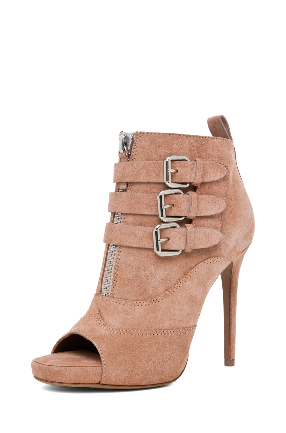 Image 2 of Tabitha Simmons Eva Suede Bootie in Rose Split Suede