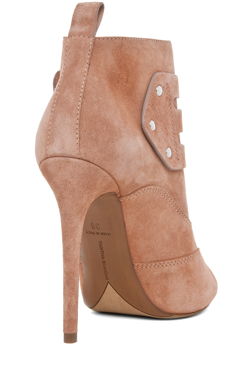 Image 3 of Tabitha Simmons Eva Suede Bootie in Rose Split Suede