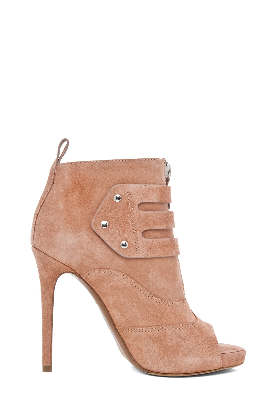 Image 5 of Tabitha Simmons Eva Suede Bootie in Rose Split Suede