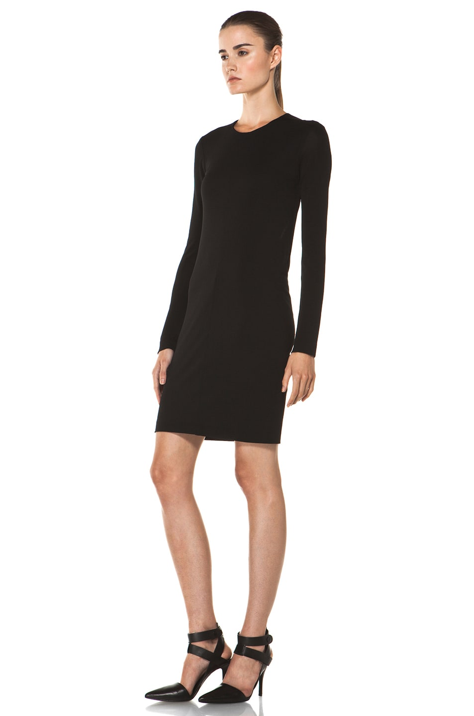 Image 2 of T by Alexander Wang Drape Back Dress in Black